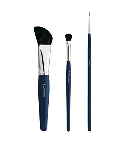 3 Claveles Set De Maquillaje: Pincel Oblícuo, Pincel Lengua Sombras Y Eye Liner