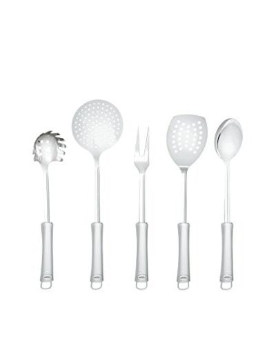 3 Claveles Set De Cocina: Cuchara Espagueti, Tenedor, Cuchara, Pala Fritos, Espumadera