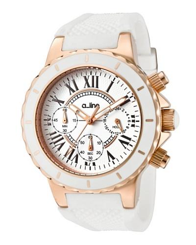 A Line AL20102DV – Reloj Unisex movimiento de cuarzo con correa silicona Blanco