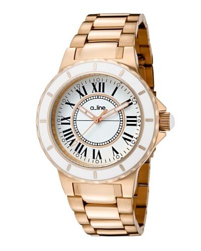 A Line AL20014 – Reloj Unisex movimiento de cuarzo con brazalete metálico Oro Rosa