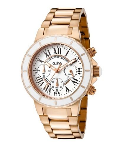 A Line AL20107DV – Reloj Unisex movimiento de cuarzo con brazalete metálico Oro Rosa