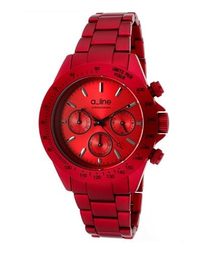 A Line AL20050RD – Reloj Unisex movimiento de cuarzo con brazalete metálico Rojo