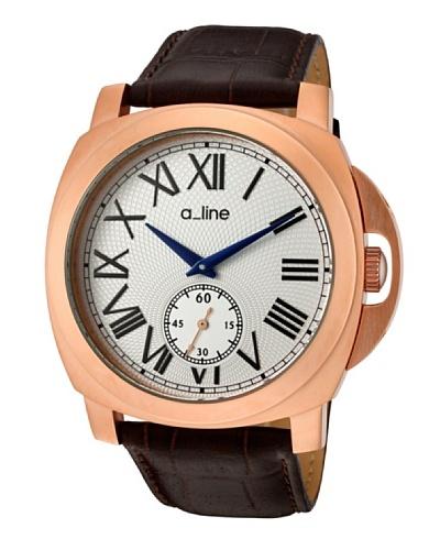 A Line AL80007RG02BR – Reloj de Caballero movimiento de cuarzo con correa de piel Marrón
