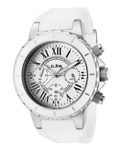 A Line AL20101DV – Reloj Unisex movimiento de cuarzo con correa silicona Blanco