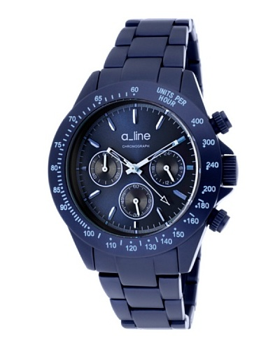 A Line AL20050NB – Reloj Unisex movimiento de cuarzo con brazalete metálico Azul