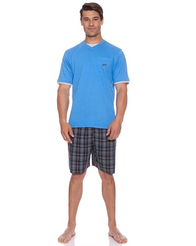 Abanderado Pijama Azure Blue Popel Azul / Print