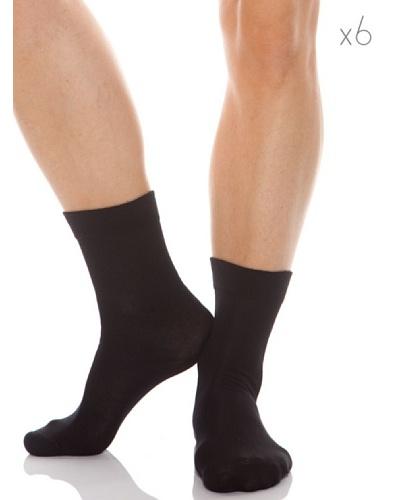 Abanderado Calcetines Socks Algodón Pack6 Negro