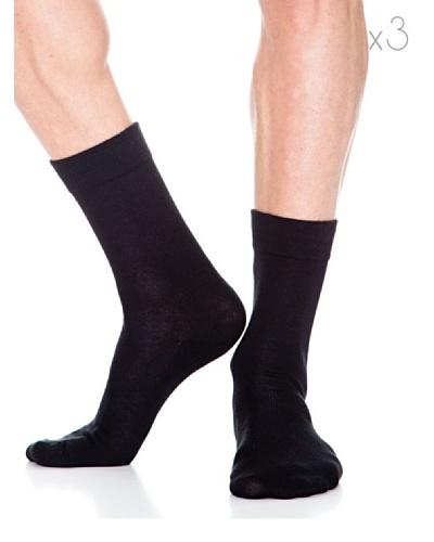Abanderado Calcetines Socks Algodón Pies Delicados Pack3 Negro