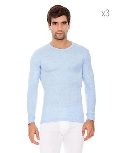 Abanderado Camiseta Fibra Invierno Set x 3 Azul Marino