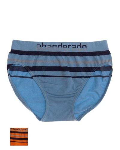 Abanderado Slip Sin Costuras Seamless Pack2 Niño Azul / Naranja