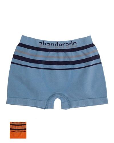 Abanderado Boxer Seamless Pack2 Niño Azul / Naranja