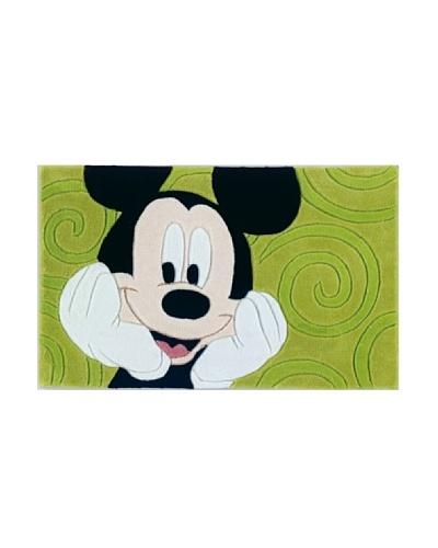ABC Tappeti Alfombra Disney Tuft 3 Mickey Verde