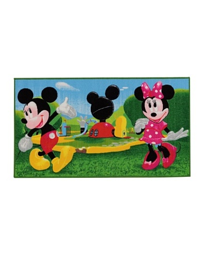 ABC Alfombra Disney Mickey Mouse Clubhouse Verde/Azul