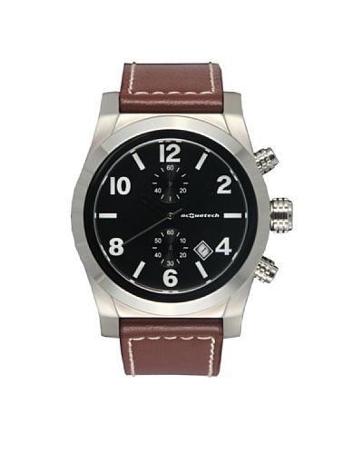 Acquatech ACQ003SSNRMR – Reloj  Señora   cuarzo  correa  piel Plata / Negro / Marrón