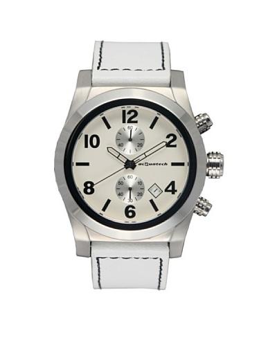 Acquatech ACQ003SSBNBN – Reloj  Señora   cuarzo  correa  piel Plata / Blanco
