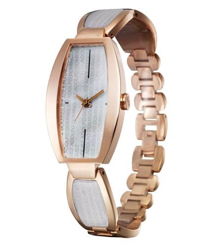 Adolfo Dominguez Watches 69153 - Reloj Señora Cobre Blanco Nacarado
