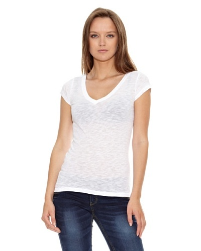 Aeropostale Camiseta Lisa Basic Blanco