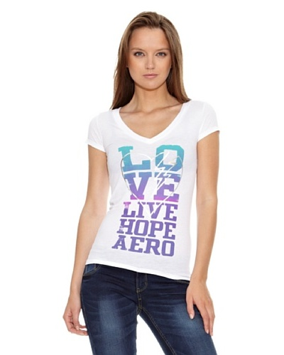 Aeropostale Camiseta Kings Blanco