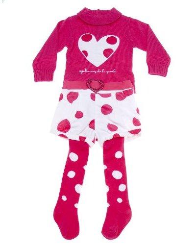 Agatha Ruiz De La Prada Kids Conjunto Shorts / Jersey / Leotardos Topos