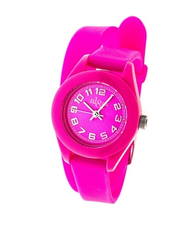 al&co Reloj Double Strap Fucsia