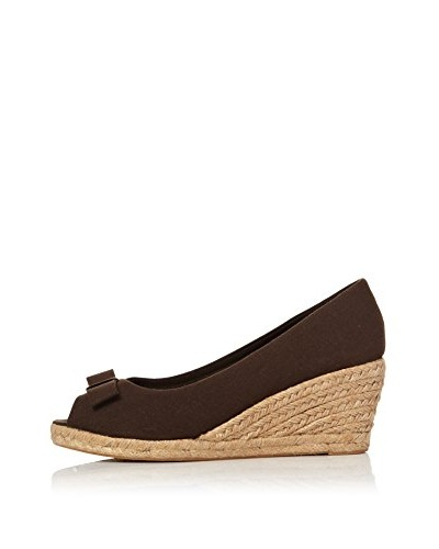 Alex Silva Zapatos Jute Wedge Peep-Toes