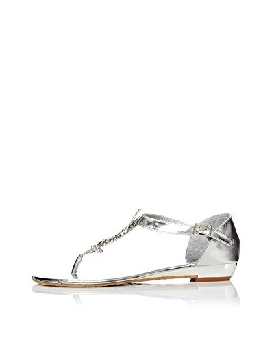 Alex Silva Sandalias 2-Parts Slingback Toe-Post Plata