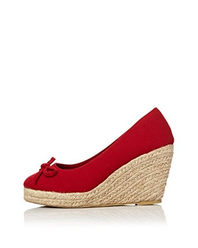 Alex Silva Zapatos Cuña Jute Wedge Front Bow Pumps