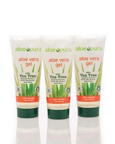 Dr.Organic Set 3 Unidades Gel de Árbol del Té y Aloe Vera 200 ml (u)