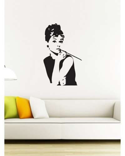 Ambiance Live Vinilo Adhesivo Audrey Hepburn Negro