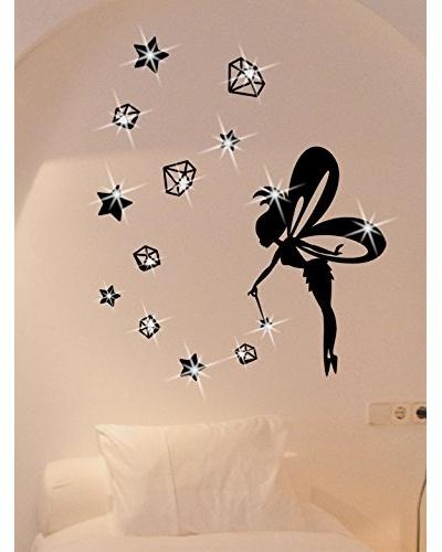 Ambiance Live Vinilo Adhesivo Hadas, Estrellas Y Diamantes Con 15 Vinilo Adhesivo Swarovski® Element...