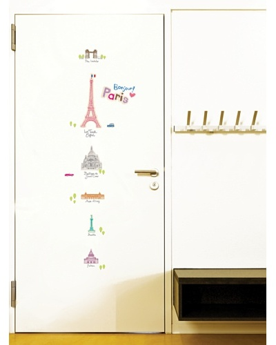 Ambiance Live Paris Buildings Wall Decals
