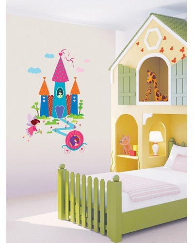 Ambiance Live Vinilo Adhesivo Princesa Y El Castillo Multicolor