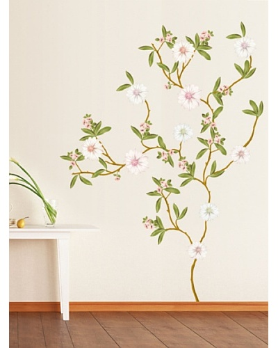 Ambiance Live Vinilo Adhesivo Magnolia Árbol En Flor Multicolor
