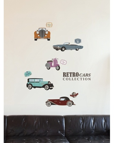 Ambiance Live Retro Cars Collection Wall Decals