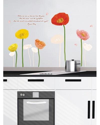 Ambiance Live Vinilo Adhesivo Tulipanes Multicolor
