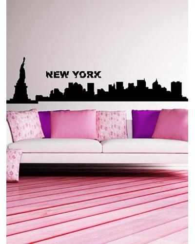 Ambiance Live Vinilo Adhesivo New York Skyline Negro