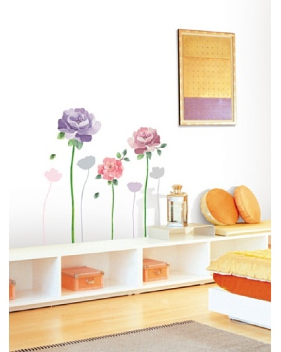 Ambiance Live Rose Flowers Wall Decals
