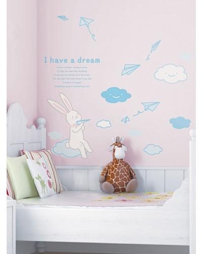 Ambiance Live Vinilo Adhesivo De Un Conejo I Have A Dream Multicolor