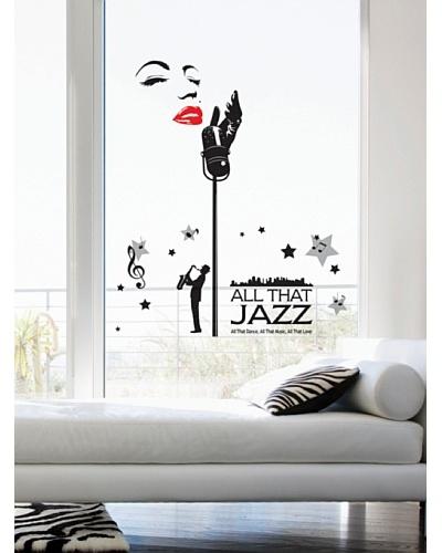 Ambiance Live Vinilo Adhesivo Cantante De Jazz