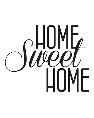 Ambience Live Vinilo Adhesivo Home Sweet Home Negro
