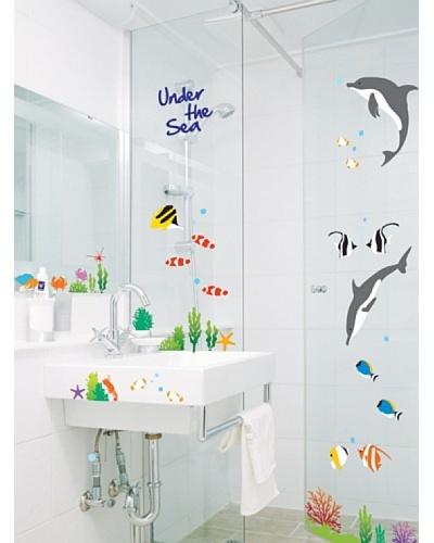 Ambience Live Vinilo Peces Y Delfines Multicolores