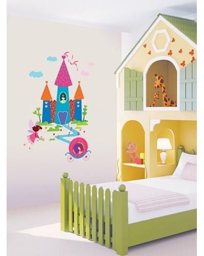 Ambience Live Vinilo Adhesivo Princesa Y El Castillo Multicolores