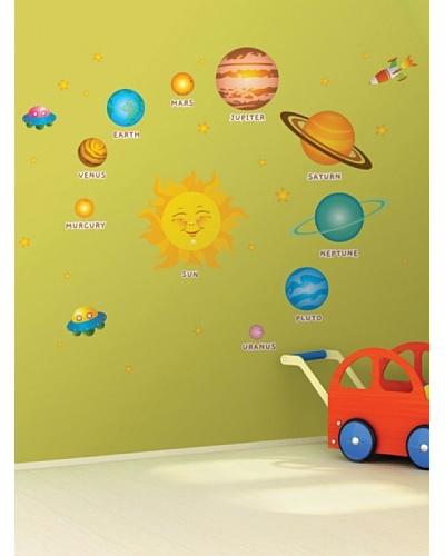 Ambience Live Vinilo El Sistema Solar Para Niños Multicolores