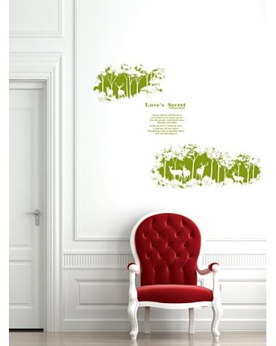 Ambience Live Vinilo Adhesivo Love's Secret - Verde Verde