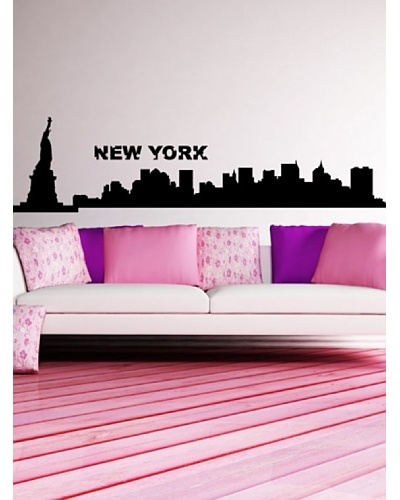 Ambience Live Vinilo Adhesivo New York Skyline Negro