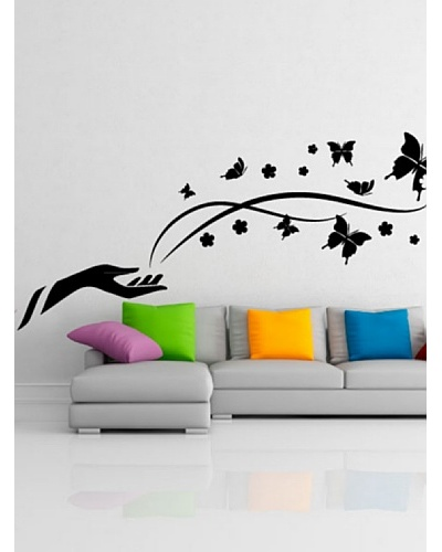 Ambience Live Vinilo Adhesivo Mariposas De La Libertad Negro