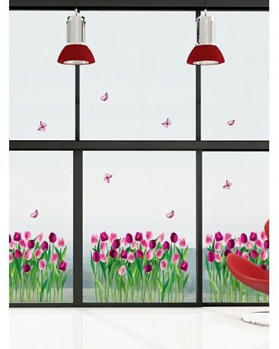 Ambience Live Vinilo Adhesivo Tulipanes De Sueno Multicolores