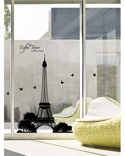 Ambience Live Vinilo Torre Eiffel Negro
