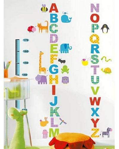Ambience Live Vinilo Adhesivo Talla Alfabeto Y Animales Para Los Niños Multicolor