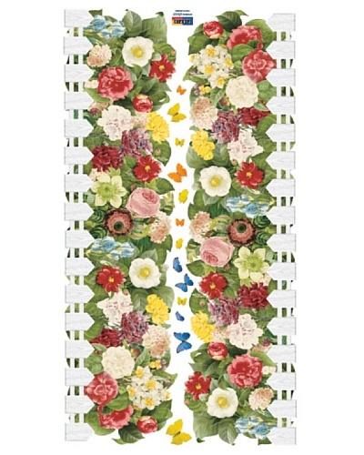 Ambience Live Vinilo Adhesivo Seto De Flores Y Mariposas Multicolor